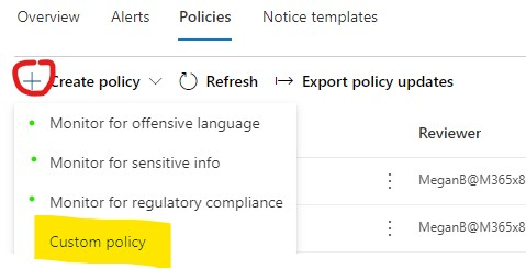 CC - Create a Policy